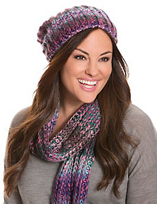 Marled slouchy beanie