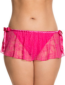 Skirted panty with Split Gusset