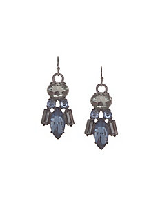 Deco stone drop earrings by Lane Bryant