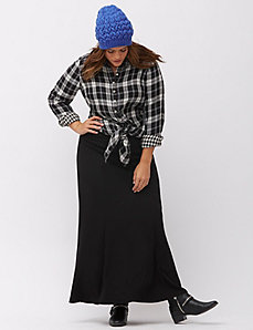 Brushed Jersey maxi skirt