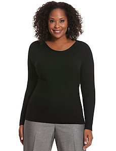 Refined rib sweater