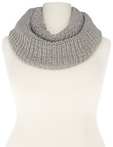 Shaker knit infinity scarf