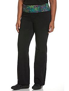 Printed waist yoga pant