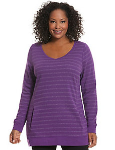 Sparkle stripe tunic