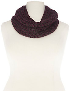 Metallic knit eternity scarf