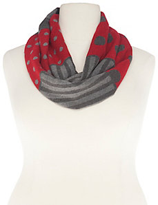 Dots & stripes infinity scarf