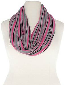 Awareness pink striped scarf