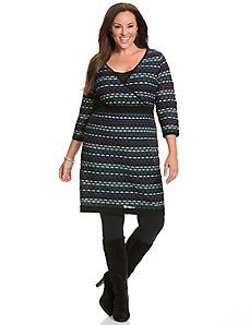 Intarsia sweater dress