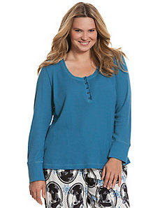 Thermal Henley sleep top