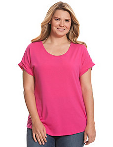 Easy scoop neck tee