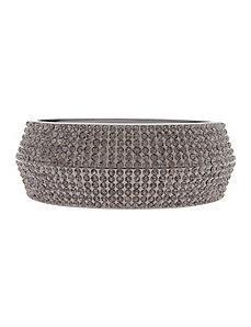 Rhinestone hinged bracelet