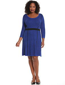 Perforated sweater dress