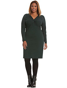 Twist front sweater dress