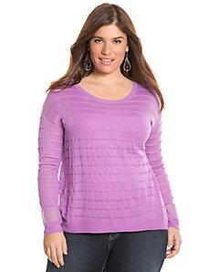 Striped illusion pullover sweater