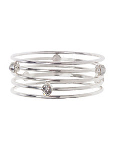 Cubic Zirconium bangle bracelet set