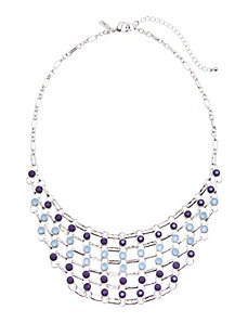 Stone & chain bib necklace