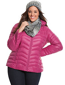 Down packable puffer jacket