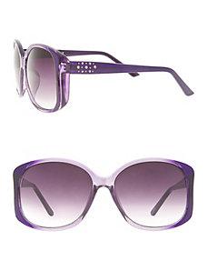 Rhinestone cluster sunglasses