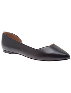 Liona leather d'Orsay flat