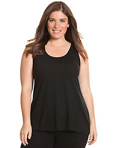 Seamed racer back tank