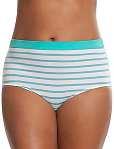Sassy cotton brief with printed waist