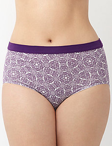 Sassy cotton brief with knit waist