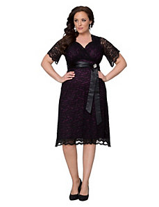Retro Glam lace dress by Kiyonna