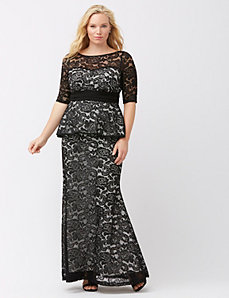 Astoria lace peplum gown by Kiyonna