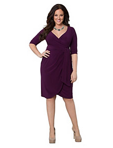 Harlow faux wrap dress by Kiyonna