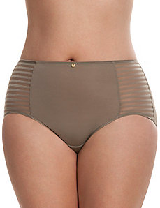 Dazzler brief panty with shadow stripes