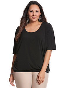 Simply Chic matte Jersey banded bottom top