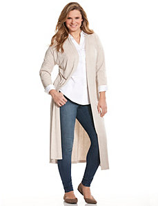 Heathered knit duster