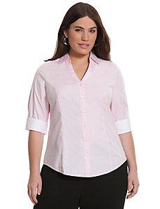 3/4 sleeve textured Perfect shirt