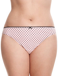 Lace back cotton thong panty