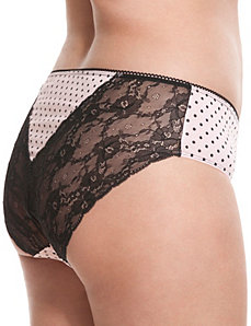 Cotton lace back hipster panty