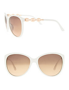 Cat-eye sunglasses with link detail