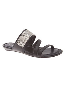 Hammered metal sandal