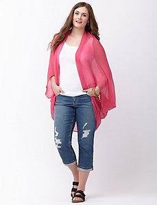 Gauzy cocoon scarf