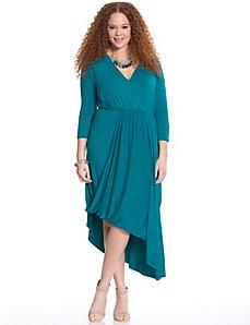 Drape front maxi dress