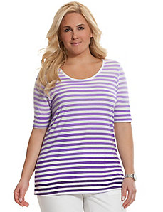 Striped ombre supima modal scoop tee