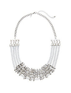 Rope & rondelle statement necklace