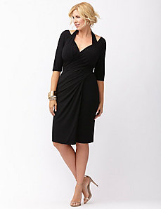 Foxfire faux wrap dress by Kiyonna