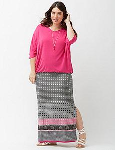 Aztec print maxi skirt