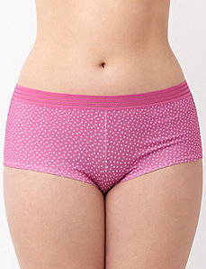 Sassy cotton boyshort panty with sporty trim
