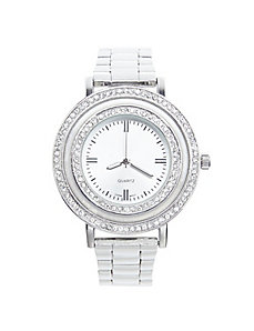 Double rhinestone watch
