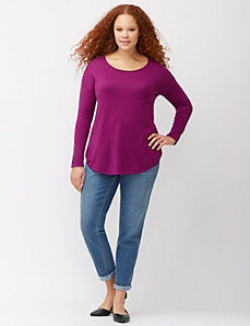 Shirttail hem sweater