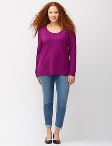 Easy scoop neck sweater
