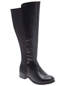 Extra wide calf riding boot
