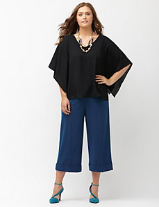 Lena Tailored Stretch wide leg crop