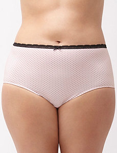 Sassy cotton brief with lace